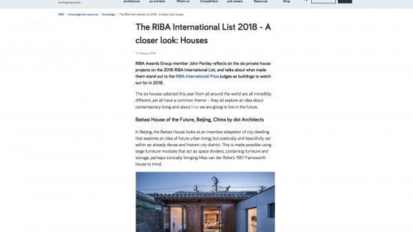 Contemporary Architecture One off Houses RIBA Awards